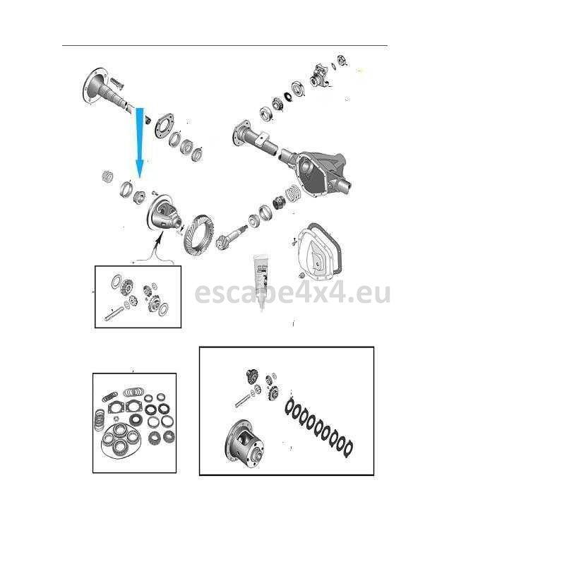 Ložisko a miska diferenciálu, postranní ložisko 4864213