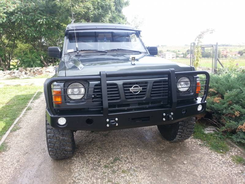 front bumper bar nissan patrol y60 | escape4x4.eu offroad equipment