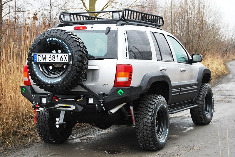 Rear Bumper Bar Backfire Jeep Grand Cheeroke Wj