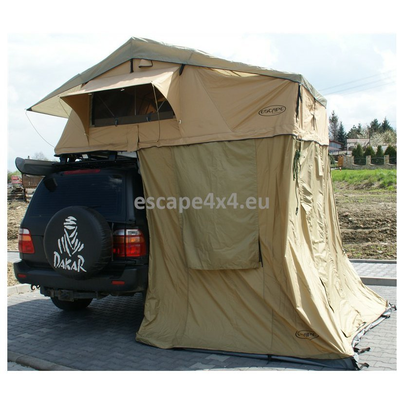 Roof Tent Escape 165 cm With Lobby For 4 Persons - Long
